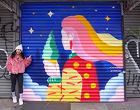 Soft Swerve Mural (NYC, 2021)