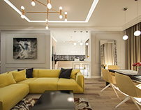 Concept of private apartment in Moscow, Russia 2016