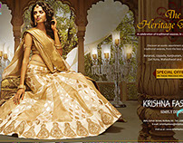 Krishna Fashions Press Ad