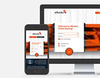 alBaraka Bank - Online Banking Web Design / UI