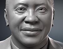Uhuru Kenyatta portrait bust