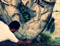 """Street Art """"The mouth speaks what the heart is full"""""""