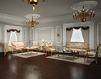 3D Visualization of a Classical Reception Area