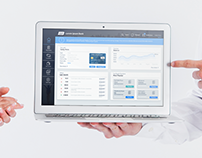 Bank dashboard concept