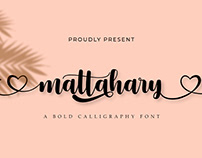 Mattahary | A Bold Calligraphy Font