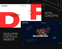 Davide Perozzi – Developer Portfolio – Initial Concepts
