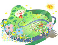 """Super Iron Bento""Children Book Illustration"