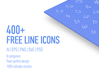 Freebie 400 Line Icons