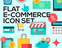 Flat e-commerce iconset
