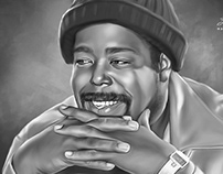 Barry White Digital Oil Painting by Wayne Flint