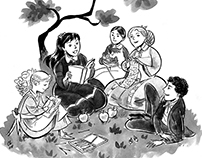 B/W illustrations test