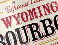 Wyoming Bourbon label