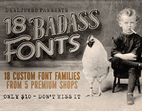 10 Dollar Bundle vol.6 – 18 Badass Fonts!