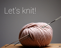we are knitters - fictional corporate design