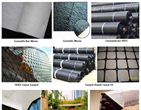 Jual Geogrid Geomembrane Geotextile