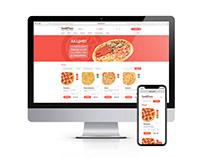 Сайт сети пиццерий Sazio Pizza