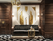 Gatsby-style cabinet interior design