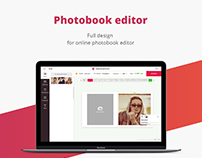 Online photobook editor / UI/UX / Web Design