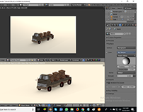 Truck Modeling Blender 3d