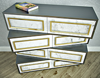 CROSSBARS CHEST OF DRAWERS
