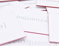eloquenza pr – Letterpress Business Cards