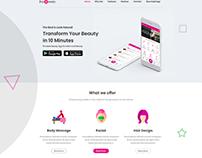 Be Beauty - Design-App Landing Page Multi-Color PSD