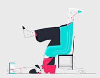 End of the workday animation