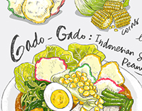 Gado & Grill Recipe Illustration