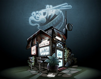A little place - vector artwork by Wam2021