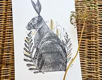 Hare Lino prints
