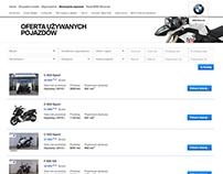Used BMW Motorrad website