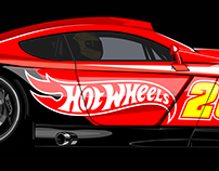 """Hot Wheels"" vector cars"