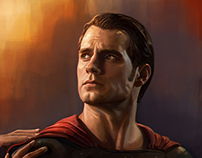 Superman Portrait Study - Superman vs Batman Fan Art