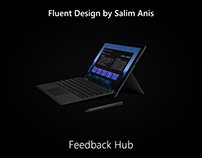 Fluent Design by Salim Anis (Part 8): Feedback Hub
