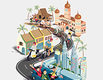 We Are One Malaysia | Illustration for Perodua