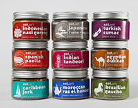 Packaging Design for Exotic Spice Tubs