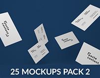 Business Cards Mock-ups Big Pack Vol. 2