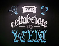 Collaboration Chalk Lettering