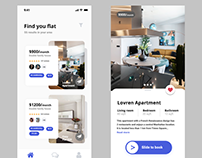 Flat Finder App Screens