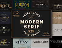 THE MODERN SERIF FONT BUNDLE - LIMITED TIME ONLY