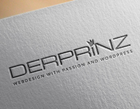 DER PRiNZ Logo Redesign (mockups of logo in use)