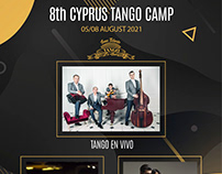8th Cyprus Tango Camp poster design.