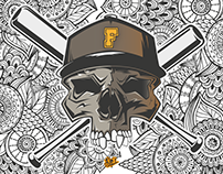 College Skull | Illustration