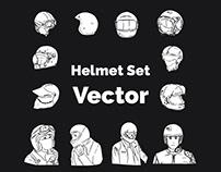 HELMET SET VECTOR
