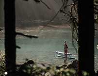 SUP on lake Eibsee