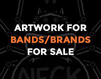 Artwork for bands/brands for sale