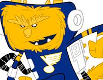 St.Louis Blues themed critter