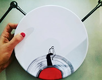 ART DE LA TABLE / Illustrated Plate Set