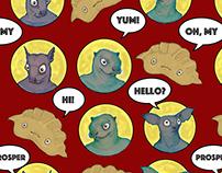 Goblins and Dumplings Pattern
