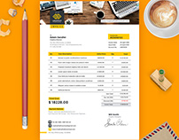 A4 Size Invoice Free PSD Template